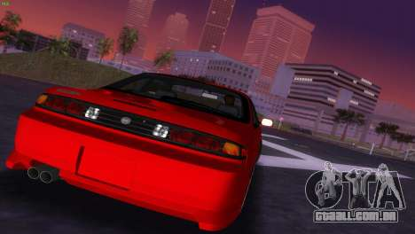 Nissan Silvia S14 RB26DETT Black Revel para GTA Vice City vista lateral
