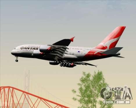 Airbus A380-841 Qantas para GTA San Andreas vista inferior