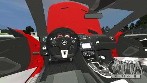 Mercedes Benz SL65 AMG Black Series para GTA 4 vista interior