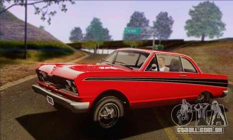 GTA V Blade para GTA San Andreas traseira esquerda vista
