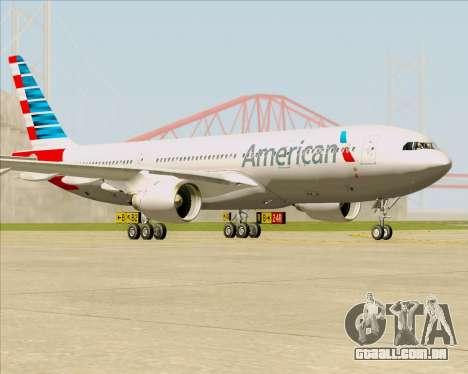 Airbus A330-200 American Airlines para GTA San Andreas esquerda vista