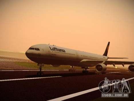 Airbus A340-600 Lufthansa para GTA San Andreas vista direita
