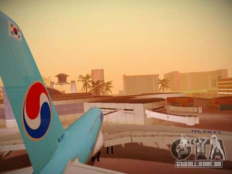 Airbus A380-800 Korean Air para o motor de GTA San Andreas