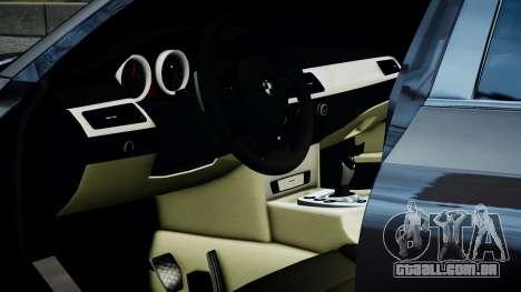 BMW M5 E60 v1 para GTA 4 traseira esquerda vista