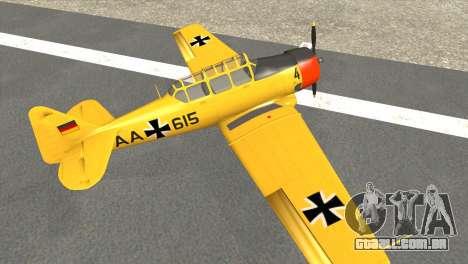 North American T-6 TEXAN AA615 para GTA San Andreas traseira esquerda vista