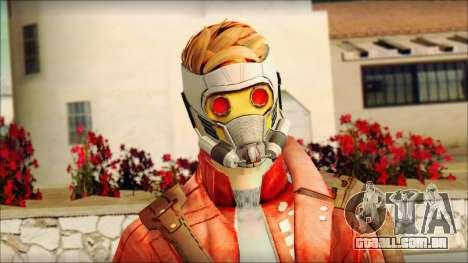 Guardians of the Galaxy Star Lord v2 para GTA San Andreas terceira tela