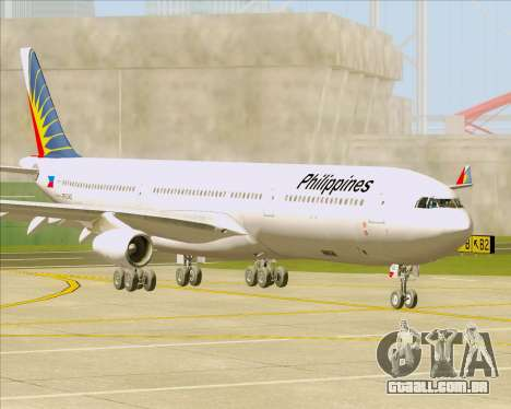 Airbus A340-313 Philippine Airlines para GTA San Andreas esquerda vista
