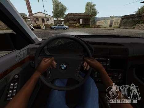 BMW 760i E38 para GTA San Andreas vista traseira