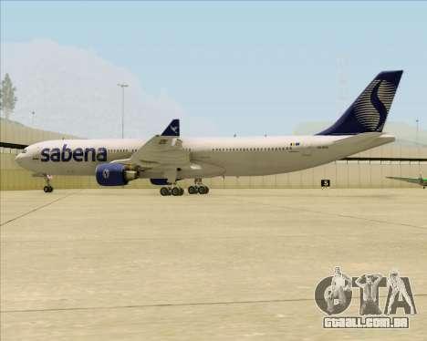 Airbus A330-300 Sabena para GTA San Andreas vista inferior
