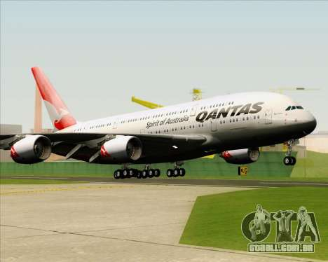 Airbus A380-841 Qantas para GTA San Andreas vista traseira