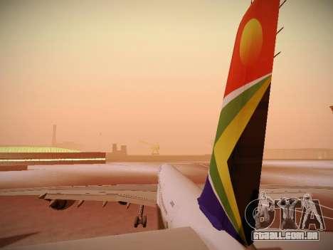 Airbus A340-600 South African Airways para o motor de GTA San Andreas
