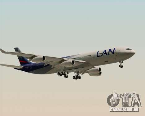 Airbus A340-313 LAN Airlines para GTA San Andreas vista traseira