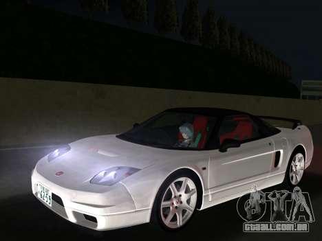 Honda NSX-R para GTA Vice City vista traseira esquerda
