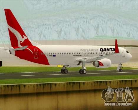 Boeing 737-838 Qantas para GTA San Andreas vista direita