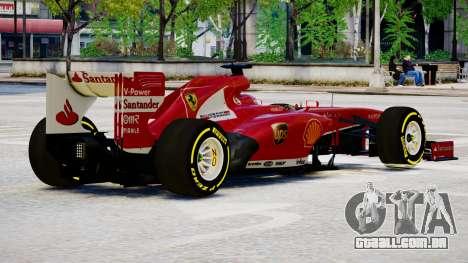 Ferrari F138 v2 para GTA 4 vista direita