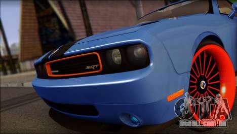 Dodge Challenger SRT8 Stance para GTA San Andreas traseira esquerda vista