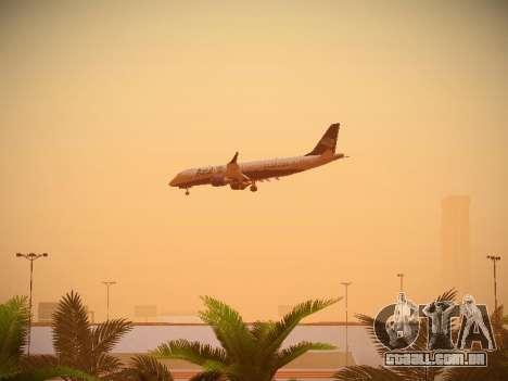 Embraer E190 Azul Brazilian Airlines para GTA San Andreas vista interior