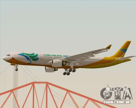 Airbus A330-300 Cebu Pacific Air para GTA San Andreas vista interior