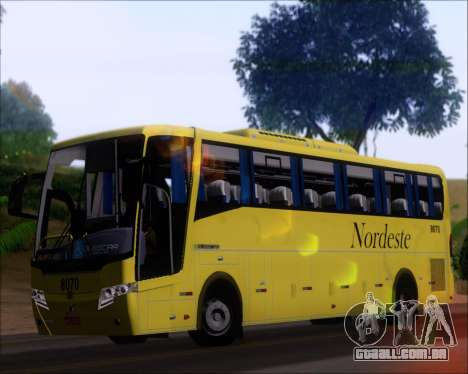 Busscar Elegance 360 Viacao Nordeste 8070 para GTA San Andreas vista interior
