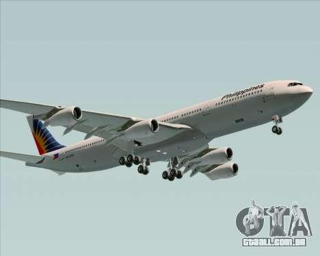 Airbus A340-313 Philippine Airlines para GTA San Andreas vista interior
