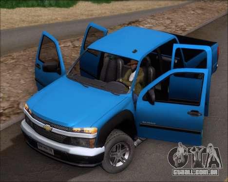 Chevrolet Colorado para GTA San Andreas vista direita