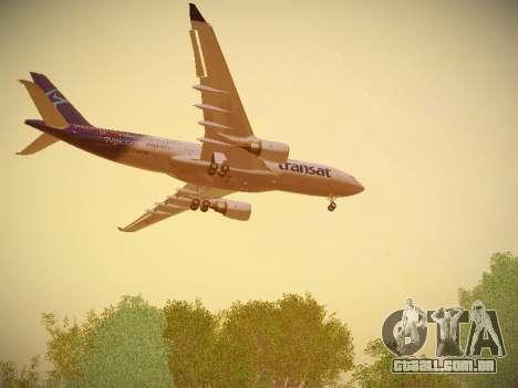 Airbus A330-200 Air Transat para as rodas de GTA San Andreas