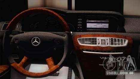 Mercedes-Benz CL63 AMG para GTA San Andreas traseira esquerda vista