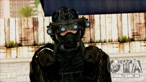 Soldados da equipe Fantasma 1 para GTA San Andreas terceira tela