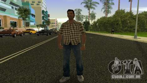 Kockas polo - citrom sarga T-Shirt para GTA Vice City segunda tela