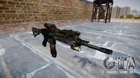 Automatic rifle Colt M4A1 kryptek typhon para GTA 4