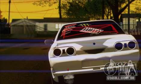 Nissan Skyline R32 Drift Monster Energy para GTA San Andreas traseira esquerda vista