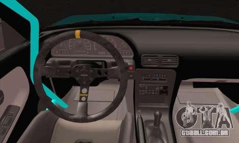 Nissan 240SX Drift Monster Energy para GTA San Andreas traseira esquerda vista
