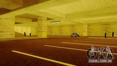 Novas texturas parque de Estacionamento da LSPD para GTA San Andreas quinto tela
