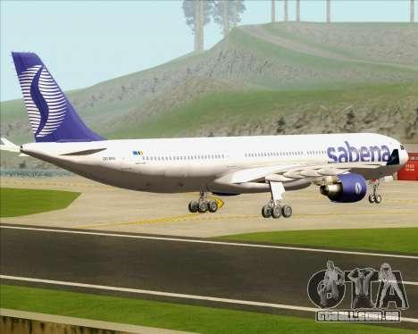 Airbus A330-300 Sabena para GTA San Andreas vista direita