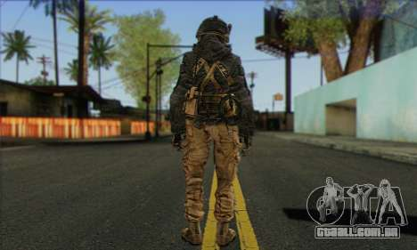 Task Force 141 (CoD: MW 2) Skin 16 para GTA San Andreas segunda tela