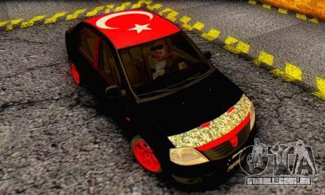 Dacia Logan Turkey Tuning para GTA San Andreas vista interior