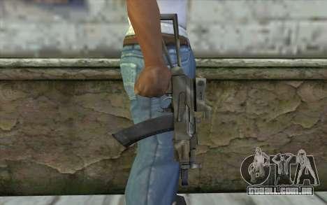 AK74U from Battlefield 2 para GTA San Andreas terceira tela