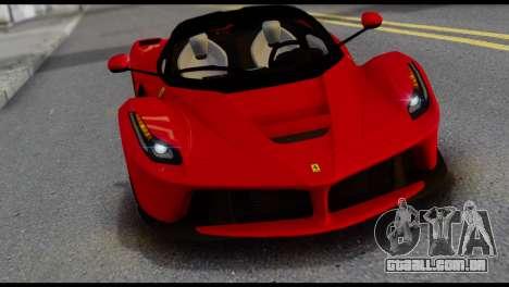 Ferrari LaFerrari 2014 (IVF) para GTA San Andreas vista traseira