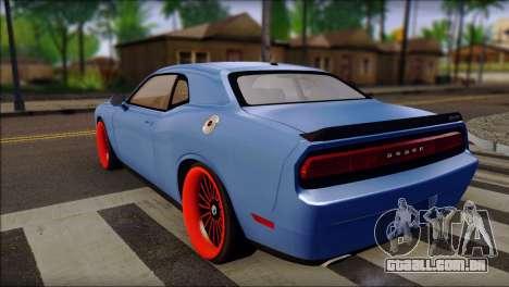 Dodge Challenger SRT8 Stance para GTA San Andreas esquerda vista