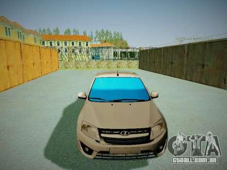 Lada Granta Liftback para GTA San Andreas vista traseira