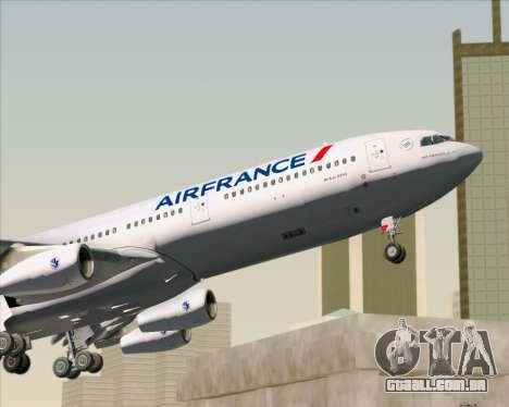 Airbus A340-313 Air France (New Livery) para GTA San Andreas interior