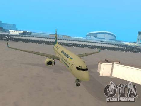 Boeing 737-84R Ukraine International Airlines para GTA San Andreas vista interior