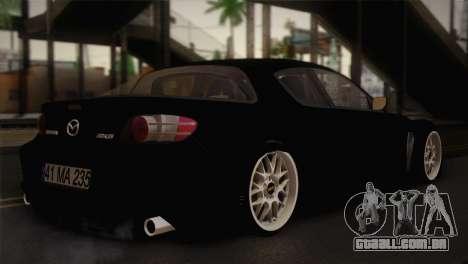 Mazda RX-8 Drift para GTA San Andreas esquerda vista