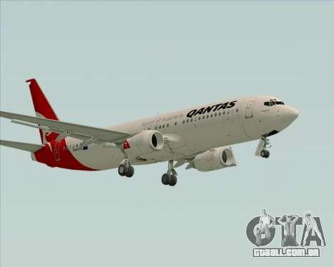 Boeing 737-838 Qantas para GTA San Andreas esquerda vista