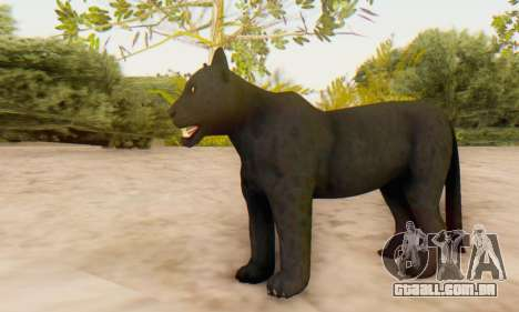 Black Panther (Mammal) para GTA San Andreas por diante tela