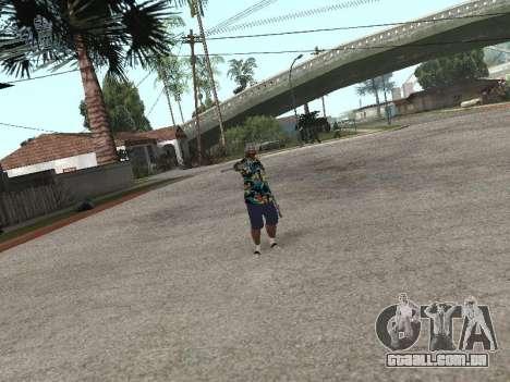 Pose gangster para GTA San Andreas quinto tela