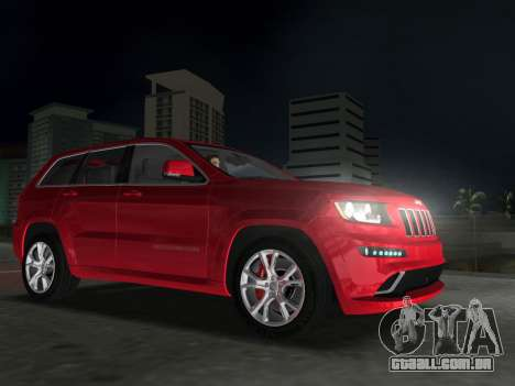 Jeep Grand Cherokee SRT-8 (WK2) 2012 para GTA Vice City vista traseira esquerda