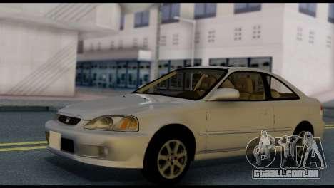 Honda Civic Si 1999 para GTA San Andreas vista direita