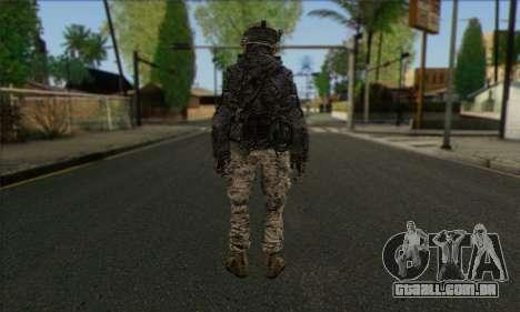 Task Force 141 (CoD: MW 2) Skin 4 para GTA San Andreas segunda tela