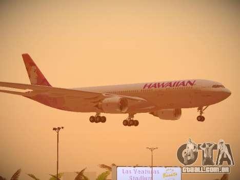 Airbus A330-200 Hawaiian Airlines para as rodas de GTA San Andreas